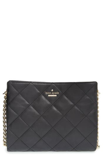 Kate Spade New York 'Emerson Place - Mini Convertible Phoebe' Quilted Leather Shoulder Bag - Black