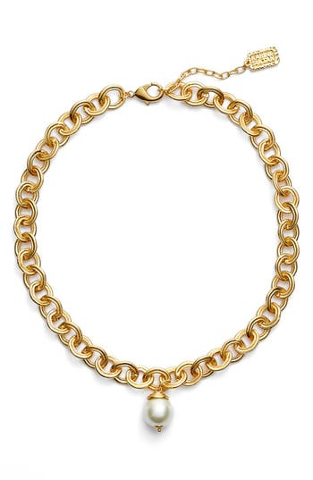 Karine Sultan Short Imitation Pearl Collar Necklace