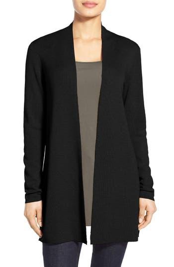 Eileen Fisher Merino Straight Long Cardigan, Black