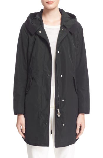 Women's Moncler 'Argeline' Long Hooded Raincoat