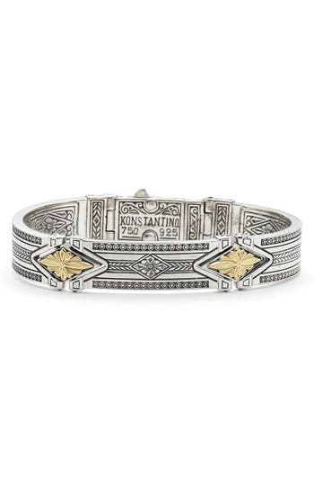 Women's Konstantino 'Orpheus' Etched Hinge Bracelet