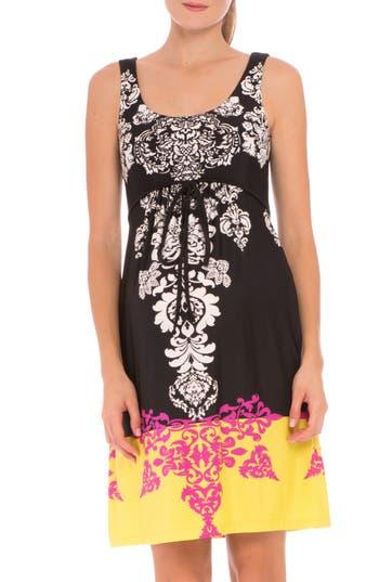 Women's Olian 'Eloise' Graphic Maternity Dress