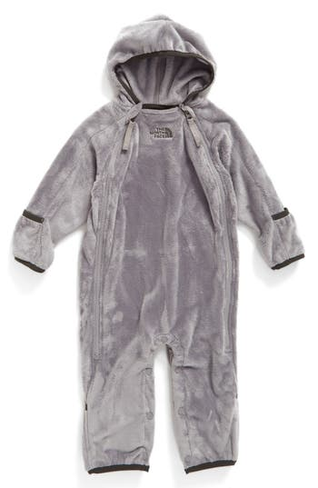 Infant The North Face Buttery Fleece Bunting, Grey