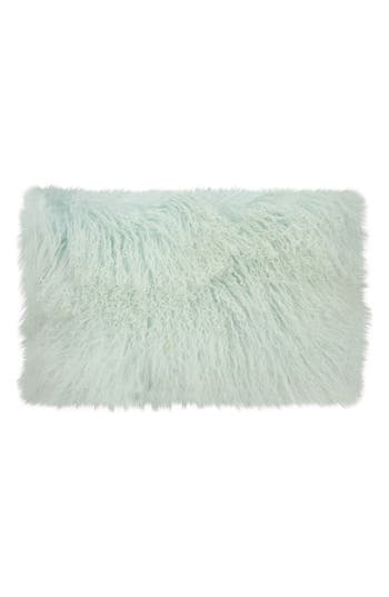 Mina Victory Genuine Tibetan Shearling Pillow, Size One Size - Blue/green