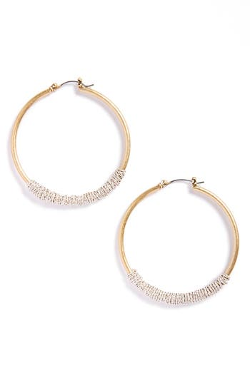 Women's Canvas Jewelry Wire Wrapped Crystal Hoop Earrings