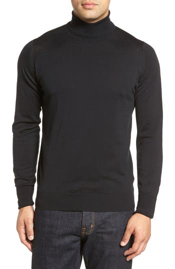 John Smedley 'Richards' Easy Fit Turtleneck Wool Sweater