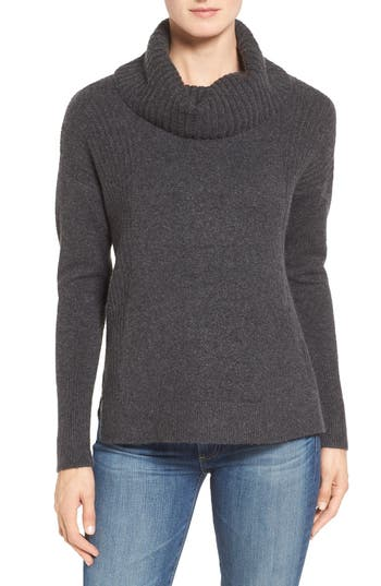 Caslon® Cozy Rib Detail Relaxed Turtleneck