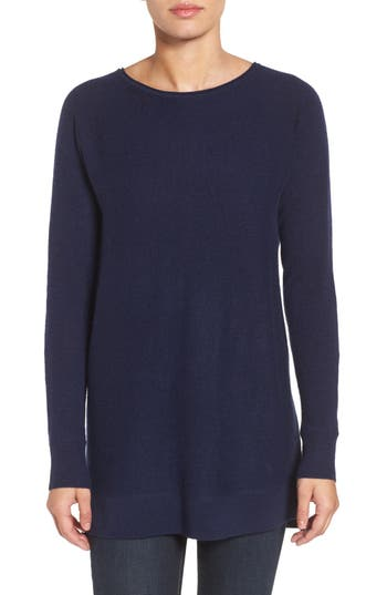 Halogen High/low Wool & Cashmere Tunic Sweater