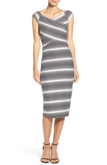 Eci Stripe Jersey Sheath Dress