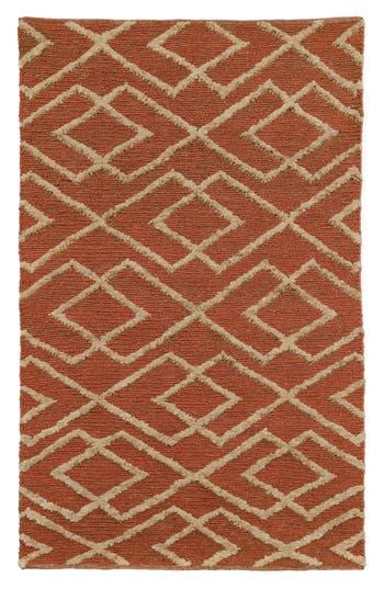 Villa Home Collection Soumak Aura Handwoven Rug, Size Swatch - Orange
