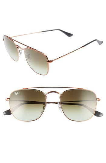 Ray-Ban Icons 5m Aviator Sunglasses - Green/ Brown