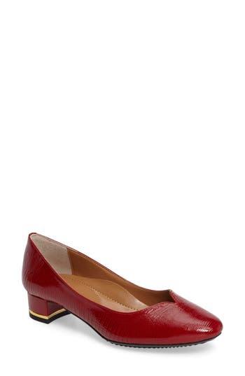 J. Renee Bambal Block Heel Pump - Red
