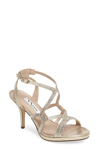 Nina Varsha Crystal Embellished Evening Sandal