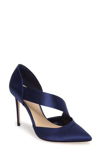 Imagine By Vince Camuto Oya Asymmetrical Pointy Toe Pump- Blue