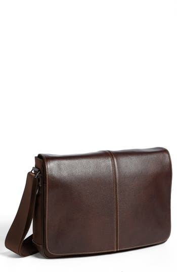 Boconi Tyler Slim Leather Laptop Briefcase -