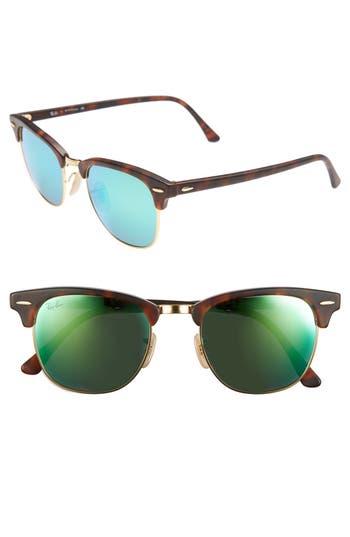 Ray-Ban Standard Clubmaster 51Mm Sunglasses - Green Flash