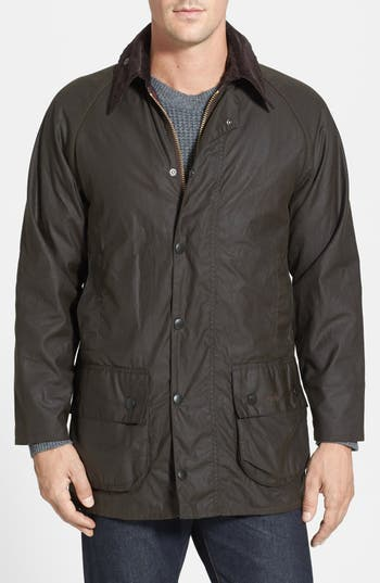 Men's Barbour 'Classic Beaufort' Relaxed Fit Waxed Cotton Jacket