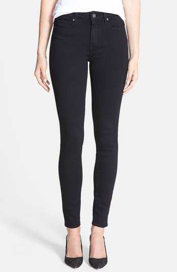 Paige Transcend - Hoxton High Waist Ultra Skinny Stretch Jeans, Black