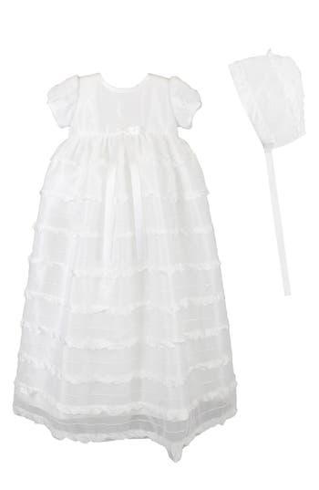 Infant Girls Ci Castro  Co Eyelash Christening Gown  Bonnet