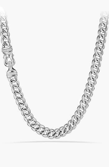 Women's David Yurman 'Buckle' Chain Necklace With Diamonds
