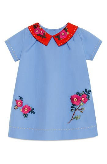 Infant Girls Gucci Stretch Cotton Poplin Dress