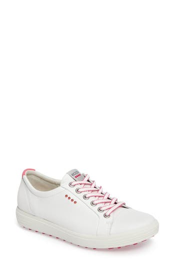 Ecco Casual Hybrid Water Resistant Golf Sneaker, White