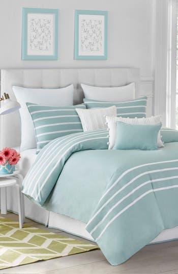 Jill Rosenwald Capri Stripe Comforter & Sham Set, Size Twin - Blue/green