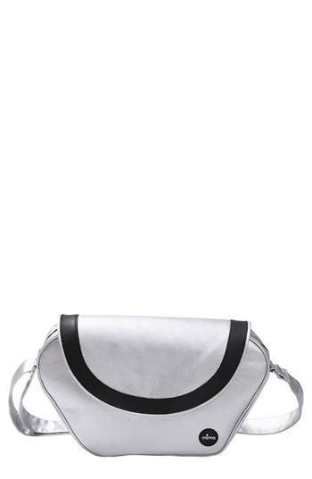 Infant Mima Trendy Faux Leather Diaper Bag  Grey