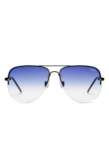 Quay Australia Muse Fade 62Mm Aviator Sunglasses - Black/ Navy