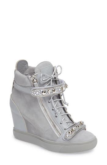 Giuseppe For Jennifer Lopez Tiana Hidden Wedge Sneaker, Metallic