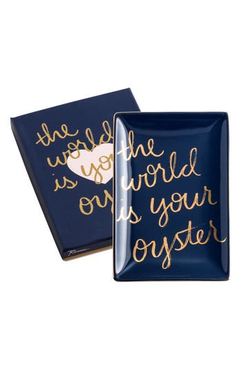 Rosanna The World Is Your Oyster Porcelain Trinket Tray