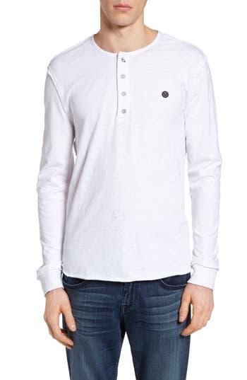 True Religion Brand Jeans Raw Edge Henley, White