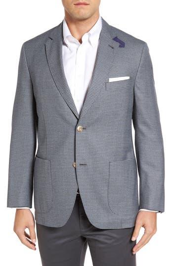 Kroon Bono 2 Classic Fit Check Wool Sport Coat