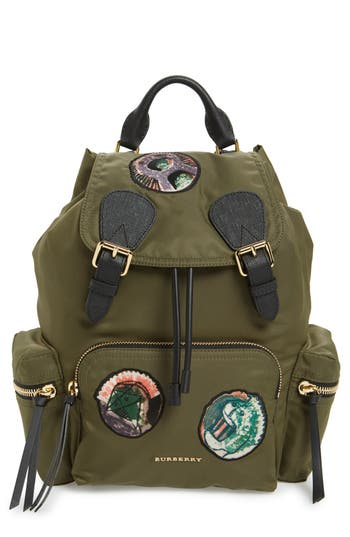 Burberry Medium Patches Rucksack Nylon Backpack -
