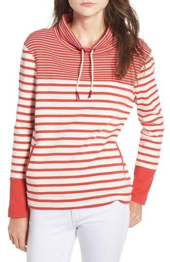Women's Barbour Rief Stripe Cotton Funnel Neck Sweater
