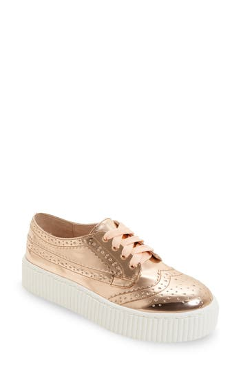 Shellys London Dilys Platform Sneaker, Metallic