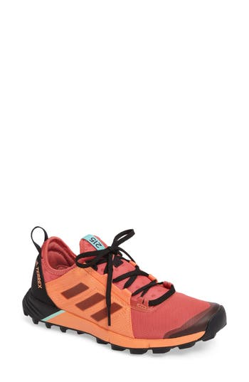 Women's Adidas Terrex Agravic Speed Running Shoe, Size 10.5 M - Orange