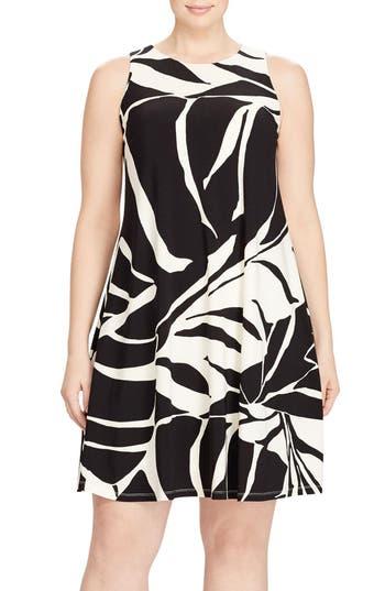 Plus Size Lauren Ralph Lauren Tropical Print Jersey Shift Dress