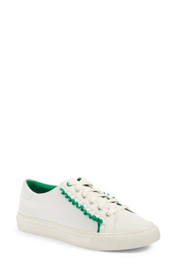 Women's Tory Sport Ruffle Sneaker, Size 6.5 M - White