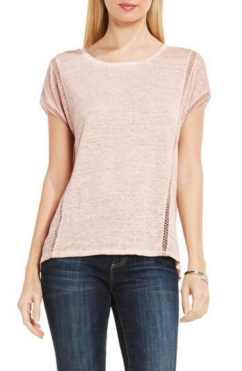 Two By Vince Camuto Linen Tee, Pink