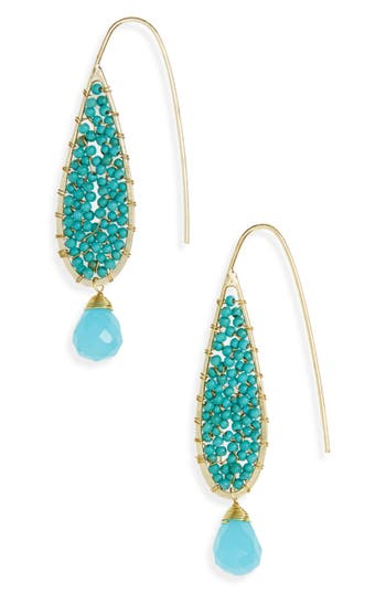 Women's Panacea Beaded Teardrop Earrings
