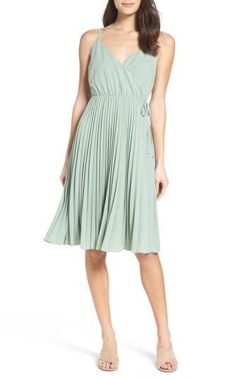Ali & Jay Lily Pond Fit & Flare Dress, Green