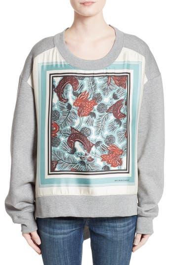 Women's Burberry Mente Graphic High/low Sweatshirt