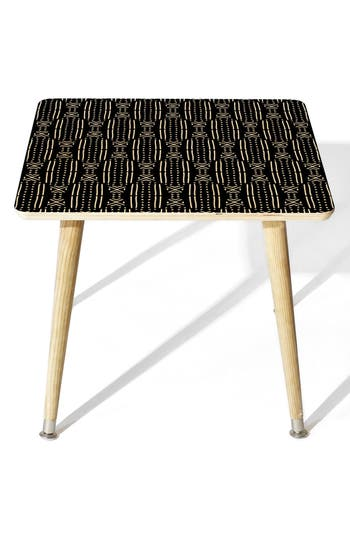 Deny Designs Mudcloth Side Table, Size One Size - Black