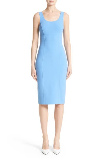 Michael Kors Stretch Wool Crepe Sheath Dress
