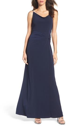Ellen Tracy Jersey Gown, Blue