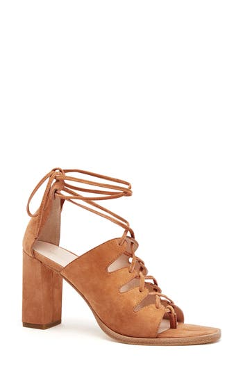 Loeffler Randall Helene Lace-Up Sandal, Brown