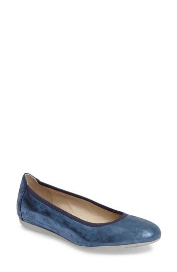 Wolky Tampa Sacchetto Ballet Flat, Blue