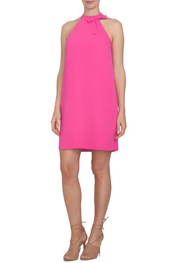 Cece Crepe Shift Dress, Pink