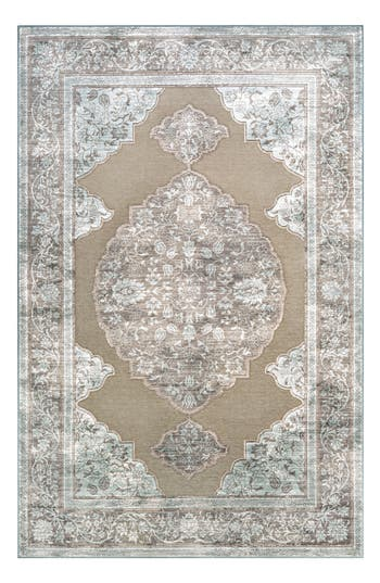 Couristan Cire Floral Medallion Area Rug, ft 1in x 3ft 7in - Beige